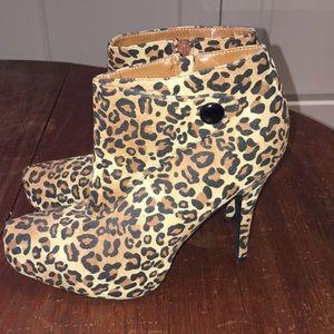 Charlotte Russe Shoes - 🐆 leopard print ankle platform booties